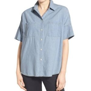 Madewell Chambray Courier Shirt Size XXS